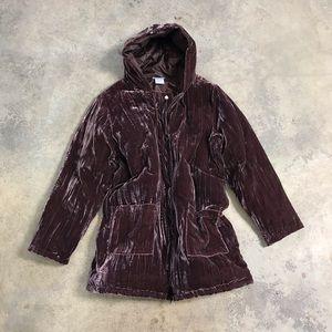 Vintage 80s Blair Velvet Down Puffer Coat